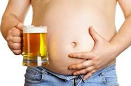 man with big beer belly